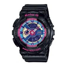 (OFFICIAL MALAYSIA WARRANTY) Casio Baby-G BA-112-1A Standard Analog & Digital Women's Resin Watch (Black)