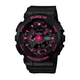 (OFFICIAL MALAYSIA WARRANTY) Casio Baby-G BA-111-1A Standard Analog & Digital Women's Resin Watch (Black & Pink)