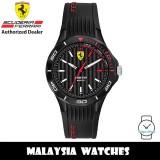 (100% Original) Scuderia Ferrari Pista 0840038 Quartz Black Dial Black Silicone Strap Men's Watch 840038 (2 Years Scuderia Ferrari Warranty)
