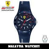 (100% Original) Scuderia Ferrari Pista 0840039 Quartz Blue Dial Blue Silicone Strap Men's Watch (2 Years Scuderia Ferrari Warranty)