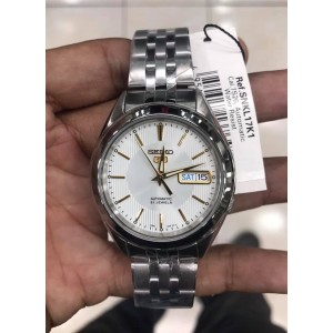 Seiko 5 SNKL17K1 Automatic See-thru Back Stainless Steel Bracelet Gents Watch