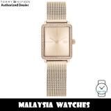 (100% Original) Tommy Hilfiger 1782293 Quartz Rose Gold-Tone Dial Stainless Steel Mesh Strap Women's Watch (2 Years International Warranty)