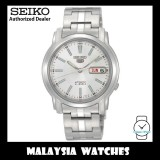 Seiko 5 SNKL75K1 Automatic See-thru Back White Dial Stainless Steel Bracelet Gents Watch