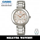 (OFFICIAL WARRANTY) Casio Sheen SHE-3050D-7A Multi-Hand Silver Dial Swarovski® Crystals Stainless Steel Women's Watch SHE-3050D SHE-3050D-7AUDR