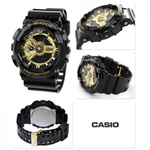 (OFFICIAL MALAYSIA WARRANTY) Casio G-SHOCK Limited Model GA-110GB-1A Black & Gold Series Men's Resin Watch (Black & Gold)