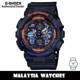 (OFFICIAL WARRANTY) Casio G-Shock GA-140CT-1A City Urban Outdoor Orange Blue Camo Black Resin Watch GA140CT GA140CT-1A GA-140CT-1ADR