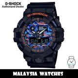 (OFFICIAL WARRANTY) Casio G-Shock GA-700CT-1A City Urban Outdoor Orange Blue Camo Black Resin Watch GA700CT GA700CT-1A GA-700CT-1ADR