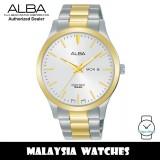 Alba AJ6124X Quartz Silver-Tone Dial Two-Tone Stainless Steel Men's Watch AJ6124 AJ6124X1 (from SEIKO Watch Corporation)
