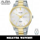 Alba AJ6124X Quartz Silver-Tone Dial Two-Tone Stainless Steel Case&Strap Men's Watch AJ6124X AJ6124X1 (from SEIKO Watch Corporation)