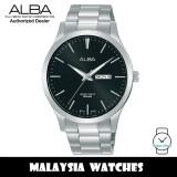 Alba AJ6127X Quartz Black-Tone Dial Silver-Tone Stainless Steel Men's Watch AJ6127 AJ6127X1 (from SEIKO Watch Corporation)