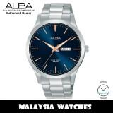 Alba AJ6129X Quartz Dark Blue Dial Silver-Tone Stainless Steel Men's Watch AJ6129 AJ6129X1 (from SEIKO Watch Corporation)
