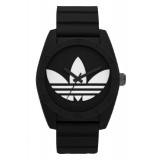 ADIDAS ADH6167 Santiago Black Dial Black Rubber Strap Unisex Quartz Watch (Black & White)