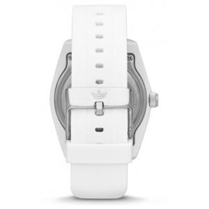 ADIDAS ADH2921 Santiago White Dial White Rubber Strap Unisex Quartz Watch (White)