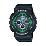 (OFFICIAL MALAYSIA WARRANTY) Casio Baby-G BA-120-1B Standard Analog & Digital Women's Resin Watch (Black & Green)