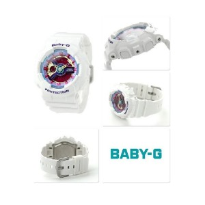 (OFFICIAL MALAYSIA WARRANTY) Casio Baby-G BA-112-7A Standard Analog & Digital Women's Resin Watch (White)