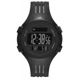 Adidas Performance ADP6086 Questra Black Dial Black Resin Strap Unisex Watch (Black)
