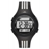 Adidas Performance ADP6085 Questra Black Dial Black & White Resin Strap Unisex Watch (Black & White)