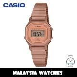 (100% Original) Casio LA-11WR-5A Classic Vintage Digital Rose Gold-Tone Stainless Steel Strap Ladies Watch LA11WR-5A LA-11WR-5ADF