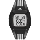 Adidas Performance ADP6093 Duramo Black Dial Black Resin Strap Unisex Watch (Black & White)