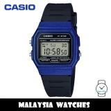(100% Original) Casio F-91WM-2A Youth Digital Blue Resin Case Black Resin Watch F91 F-91 F91WM F91WM-2A F-91WM-2ADF