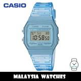(100% Original) Casio F-91WS-2 Youth Digital Blue Transparent Resin Watch F91 F-91 F91WS F91WS-2 F-91WS-2DF