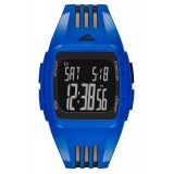Adidas Performance ADP6096 Duramo Black Dial Blue Resin Strap Unisex Watch (Blue & Black)