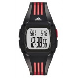 Adidas Performance ADP6098 Duramo Black Dial Black Resin Strap Unisex Watch (Black & Red)