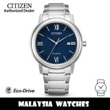 (100% Original) Citizen AW1670-82L Eco-Drive Blue Dial Silver-Tone Stainless Steel Men's Watch (3 Years Warranty)