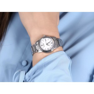 (100% Original) Citizen FE1220-89A Eco-Drive White Dial Silver-Tone Stainless Steel Ladies' Watch (3 Years Warranty)