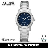 (100% Original) Citizen FE1220-89L Eco-Drive Blue Dial Silver-Tone Stainless Steel Ladies' Watch (3 Years Warranty)