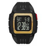 Adidas Performance ADP6135 Duramo XL Black Dial Black Resin Strap Unisex Watch (Black & Gold)