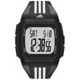 Adidas Performance ADP6089 Duramo XL Black Dial Black Resin Strap Unisex Watch (Black & White)