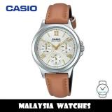(100% Original) Casio LTP-V300L-7A2 Quartz Silver Dial Stainless Steel Case Brown Leather Strap Ladies Watch LTPV300L LTPV300L-7A2 LTP-V300L-7A2VDF