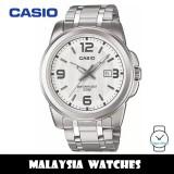 (100% Original) Casio MTP-1314D-7A Quartz Analog White Dial Silver-Tone Stainless Steel Men's Watch MTP1314D MTP1314D-7A MTP-1314D-7AVDF