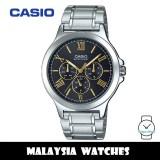 (100% Original) Casio MTP-V300D-1A2 Enticer Quartz Black Dial Stainless Steel Men's Watch MTPV300D MTPV300D-1A2 MTP-V300D-1A2V MTP-V300D-1A2VDF