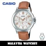 (100% Original) Casio MTP-V300L-7A2 Enticer Quartz Stainless Steel Case Brown Leather Strap Men's Watch MTPV300L MTPV300L-7A2 MTP-V300L-7A2V MTP-V300L-7A2UDF