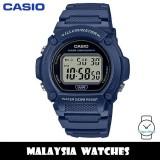 (100% Original) Casio W-219H-2A Youth Quartz Digital Blue Resin Men's Watch W219H W219H-2A W-219H-2AVDF