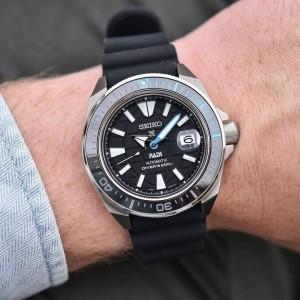 Seiko Prospex SRPG21K1 PADI King Samurai Automatic Sapphire Glass Ceramic Bezel Black Silicone Strap Divers' Watch