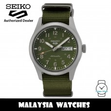 Seiko 5 Sports Superman SRPG33K1 Automatic 100M Green Dial Curved Hardlex Crystal Glass Military Green Nylon Strap Men's Watch