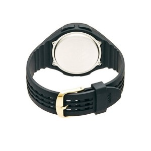 Adidas Performance ADP3158 Uraha Mid Sized Black Resin Strap Unisex Watch (Black & Gold)
