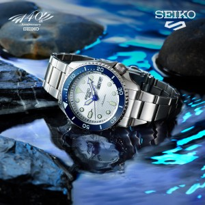 Seiko 5 Sports Superman SRPG47K1 Limited Edition 140th Anniversary Automatic White Dial Hardlex Glass Stainless Steel Men's Watch