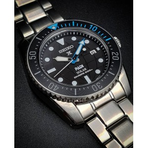 Seiko SNE575P1 Prospex PADI Compact Solar Scuba Diver Solar Power Special Edition Sapphire Glass Stainless Steel Diver's 200M Watch