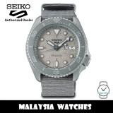 Seiko 5 Sports Superman SRPG61K1 Cement Collection Automatic 100M Hardlex Glass Grey Nylon Strap Men's Watch