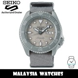 Seiko 5 Sports Superman SRPG61K1 Cement Collection Automatic Hardlex Glass Stainless Steel Case Grey Nylon Strap Men's Watch