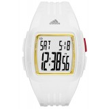 Adidas Performance ADP3157 Duramo Mid Sized White Resin Strap Unisex Watch (White & Gold)