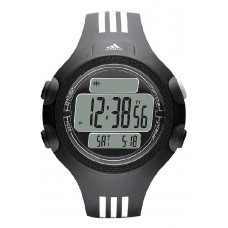 Adidas Performance ADP6081 Questra Black Dial Resin Strap Unisex Watch (Black)