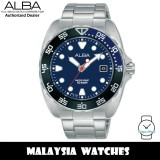 Alba AS9M91X Active Quartz Blue Dial Silver-Tone Stainless Steel Men's Watch AS9M91 AS9M91X1 (from SEIKO Watch Corporation)