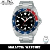 Alba AS9M99X Active Quartz Black Dial Silver-Tone Stainless Steel Men's Watch AS9M99 AS9M99X1 (from SEIKO Watch Corporation)