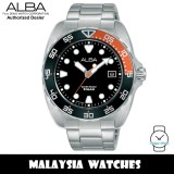 Alba AS9N01X Active Quartz Black Dial Silver-Tone Stainless Steel Men's Watch AS9N01 AS9N01X1 (from SEIKO Watch Corporation)