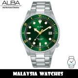 Alba AG8L35X Active Quartz Green Dial Silver-Tone Stainless Steel Women's Watch AG8L35 AG8L35X1 (from SEIKO Watch Corporation)